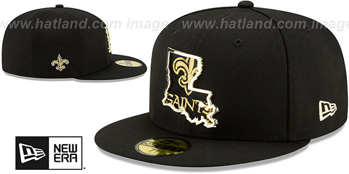 Saints 'GOLD STATED INSIDER' Black Fitted Hat by New Era