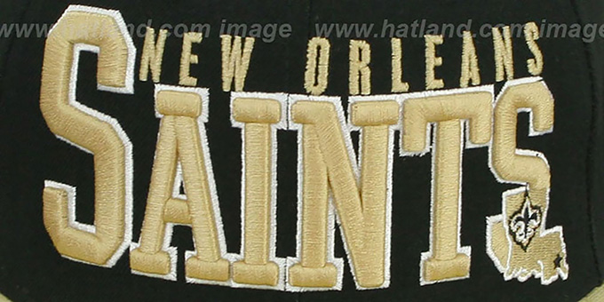 Saints 'NFL 2T CHOP-BLOCK' Black-Gold Fitted Hat by New Era