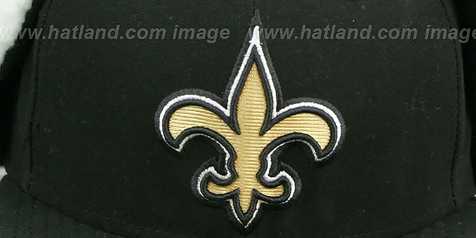Saints 'NFL-DOGEAR' Black Fitted Hat by New Era