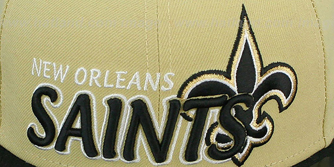 Saints 'NFL-TIGHT' Gold-Black Fitted Hat by New Era