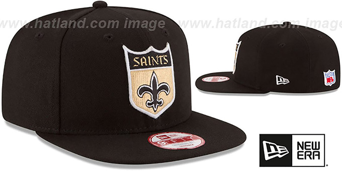 Saints 'RETRO-BASIC SNAPBACK' Black Hat by New Era