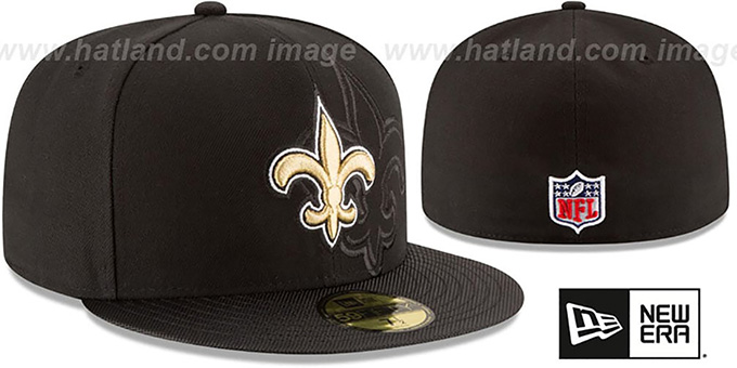 Saints 'STADIUM SHADOW' Black Fitted Hat by New Era