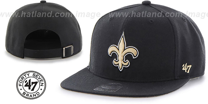 4f24ccc56 ... brand new 871f6 f6bac ... Saints SUPER-SHOT STRAPBACK Black Hat by Twins  ...