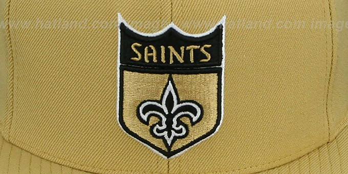Saints 'THROWBACK-BASIC SNAPBACK' Gold Hat by Mitchell & Ness
