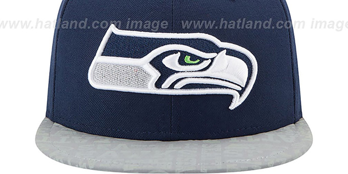 Seahawks '2014 NFL DRAFT' Navy Fitted Hat by New Era