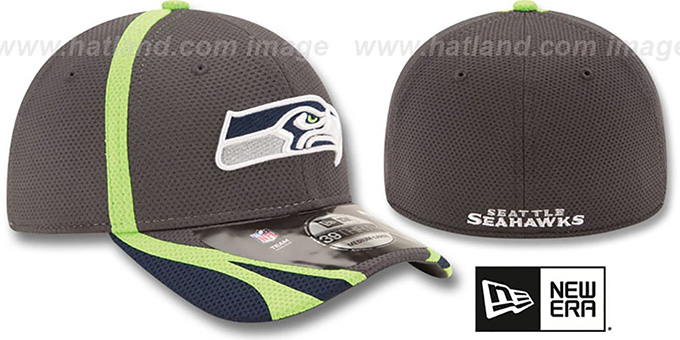 Seahawks '2014 NFL TRAINING FLEX' Graphite Hat by New Era