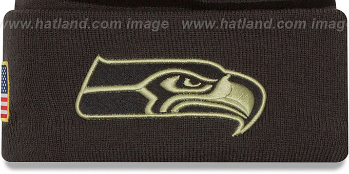 2c304f34 ... Seahawks '2016 SALUTE-TO-SERVICE' Knit Beanie Hat by New Era ...