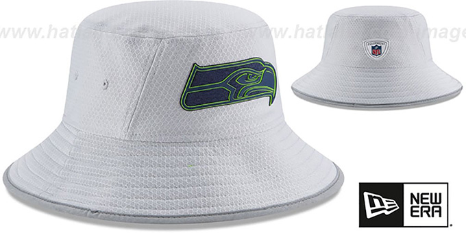 Seahawks '2018 NFL TRAINING BUCKET' Grey Hat by New Era