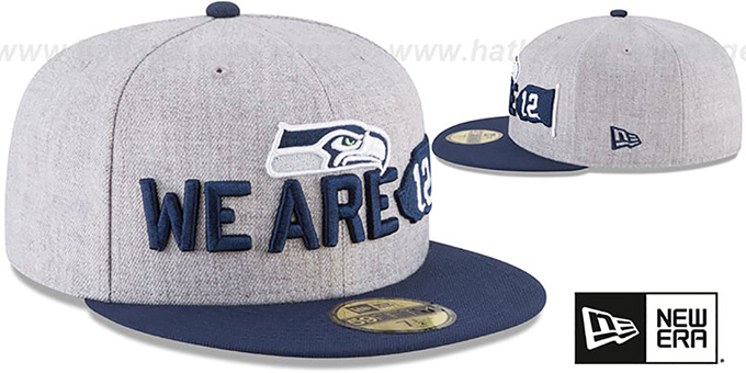 Seahawks '2018 ONSTAGE' Grey-Navy Fitted Hat by New Era