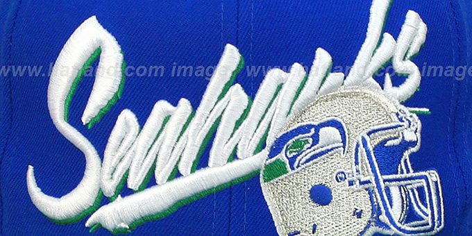Seahawks '2T VICE SNAPBACK' Royal-Green Adjustable Hat by Mitchell and Ness