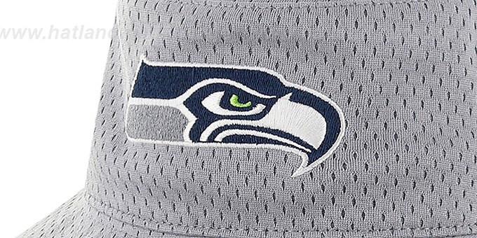 Seahawks 'BACKBOARD JERSEY BUCKET' Grey Hat by Twins 47 Brand