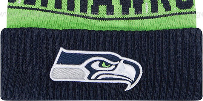 Seahawks 'REP-UR-TEAM' Knit Beanie Hat by New Era