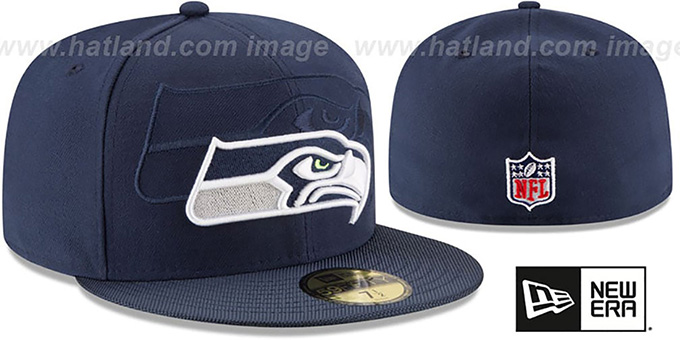 Seahawks 'STADIUM SHADOW' Navy Fitted Hat by New Era