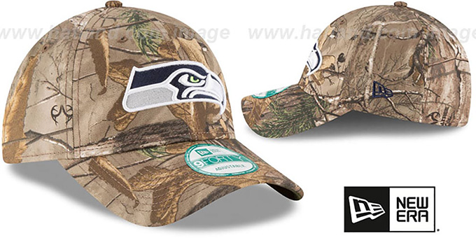 Seahawks 'THE LEAGUE REALTREE' Strapback Hat by New Era
