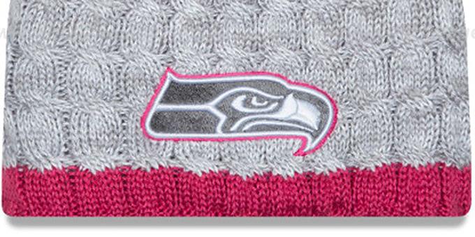 aa8e714b Seattle Seahawks WOMENS 2015 BCA Knit Beanie Hat by New Era