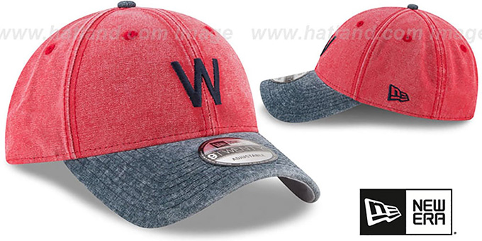 Senators 'GW COOP RUGGED CANVAS STRAPBACK' Red-Navy Hat by New Era