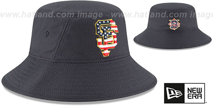 SF Giants '2018 JULY 4TH STARS N STRIPES BUCKET' Navy Hat by New Era