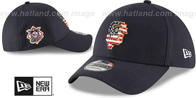 ... SF Giants  2018 JULY 4TH STARS N STRIPES FLEX  Navy Hat by New Era ... dccbb297ec3d