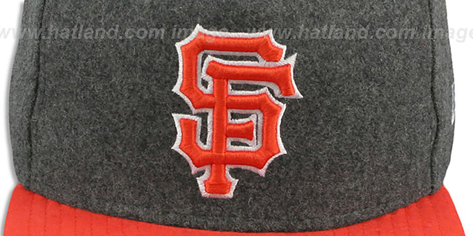 SF Giants '2T MELTON A-FRAME STRAPBACK' Hat by New Era