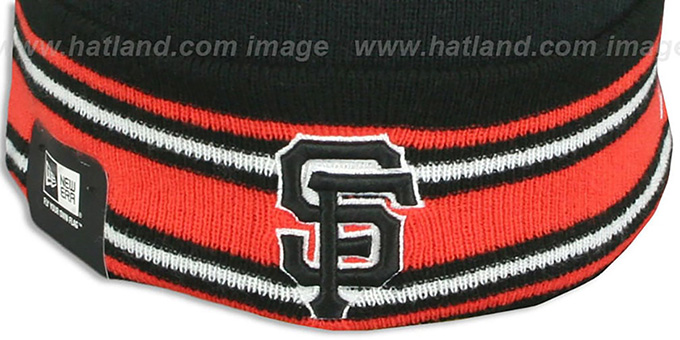 SF Giants 'AC-ONFIELD' Black Knit Beanie Hat by New Era