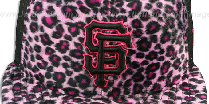 SF Giants CHEETAH 'ANIMAL-FUR MESH-BACK' Fitted Hat by New Era