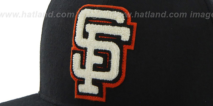 SF Giants COOP 'CATERPILLAR' Black Fitted Hat by 47 Brand