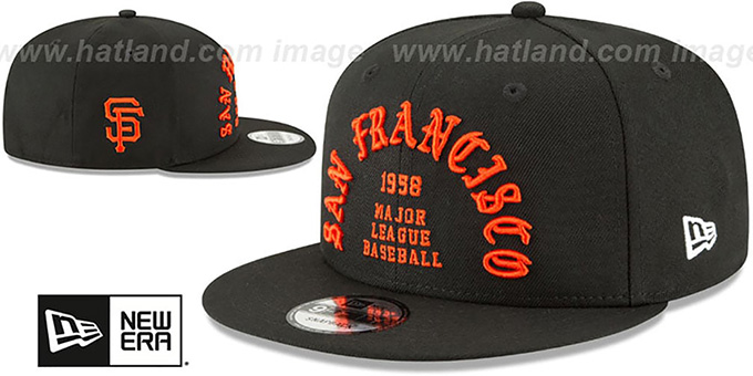 SF Giants 'GOTHIC-ARCH SNAPBACK' Black Hat by New Era