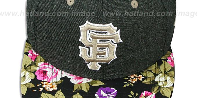 d21cdbde San Francisco SF Giants HEATHER BLOOM SNAPBACK Charcoal-Black Hat by New Era