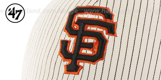 SF Giants 'HOME-RUN PINSTRIPE STRAPBACK' Hat by Twins 47 Brand