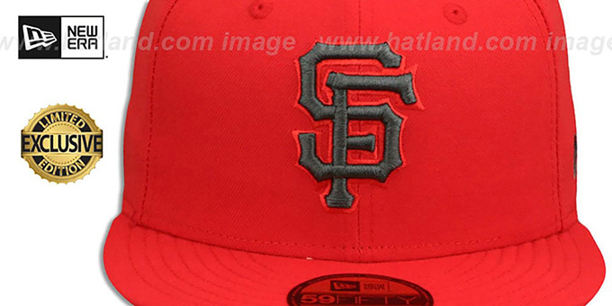 SF Giants 'MLB TEAM-BASIC' Fire Red-Charcoal Fitted Hat by New Era