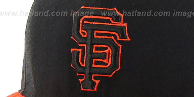 SF Giants 'NO-SHOT SNAPBACK' Black-Orange Hat by Twins 47 Brand