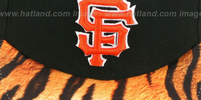 SF Giants 'REAL TIGER VIZA-PRINT' Black Fitted Hat by New Era