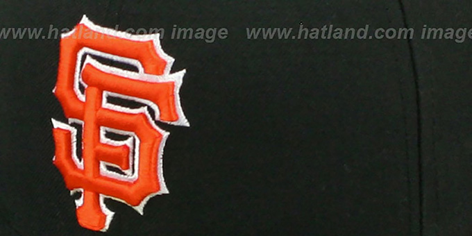 SF Giants 'SIDE TEAM-PATCH' Black Fitted Hat by New Era