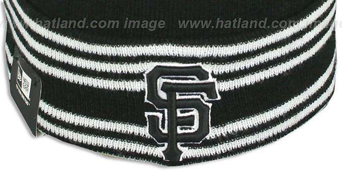 SF Giants 'SPORT-KNIT' Black-Black Beanie Hat by New Era