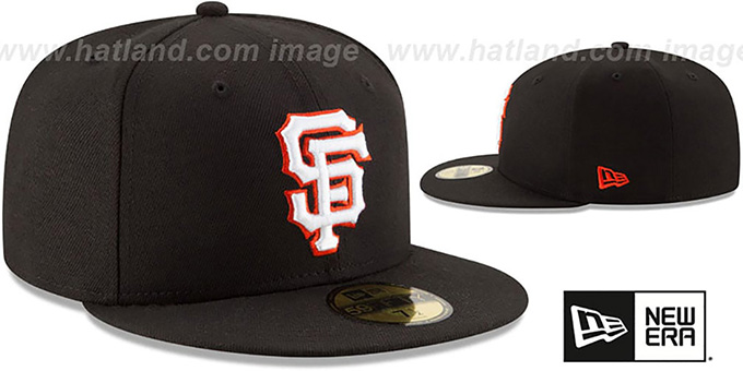 SF Giants 'STATE STARE' Black Fitted Hat by New Era