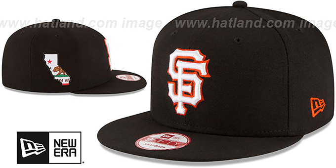 SF Giants 'STATE STARE SNAPBACK' Black Hat by New Era