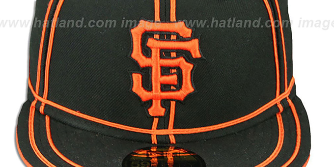 SF Giants 'TACHS' Black-Orange Fitted Hat by New Era