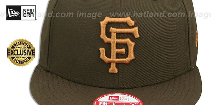 SF Giants 'TEAM-BASIC SNAPBACK' Brown-Wheat Hat by New Era