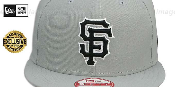 SF Giants 'TEAM-BASIC SNAPBACK' Grey-Black Hat by New Era