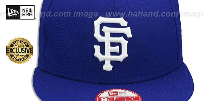 aa31d77cc8e ... SF Giants  TEAM-BASIC SNAPBACK  Royal-White Hat by New Era ...
