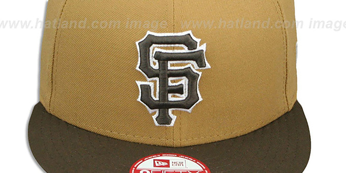SF Giants 'TEAM-BASIC SNAPBACK' Wheat-Brown Hat by New Era