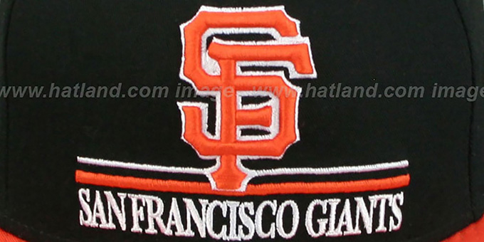 SF Giants 'UNDERLINE SNAPBACK' Black-Orange Hat by New Era
