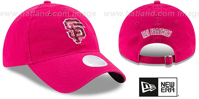 SF Giants 'WOMENS MOTHERS DAY GLIMMER STRAPBACK' Pink Hat by New Era
