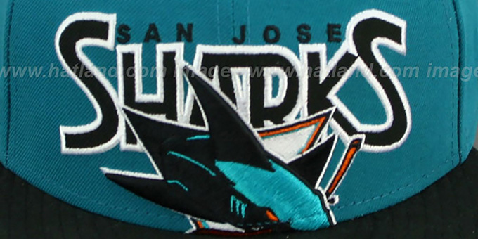 Sharks 'PROFILIN' Teal-Black Fitted Hat by New Era
