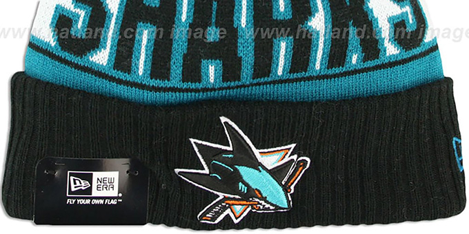 Sharks 'REP-UR-TEAM' Knit Beanie Hat by New Era