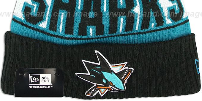 San Jose Sharks REP-UR-TEAM Knit Beanie Hat by New Era 63de0793e908