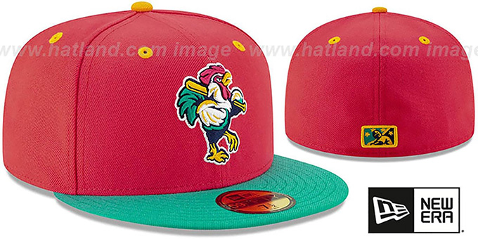 Shorebirds 'COPA' Red-Aqua Fitted Hat by New Era