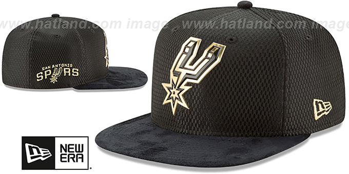 Spurs '2017 NBA ONCOURT SNAPBACK' Black-Gold Hat by New Era