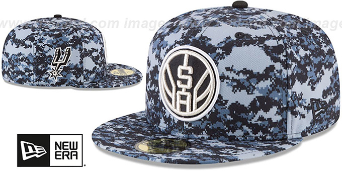 size 40 d130d 30e9a San Antonio Spurs CITY-SERIES Camo Fitted Hat by New Era