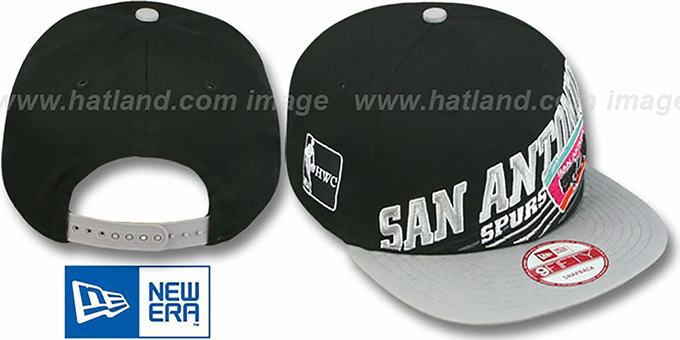 Spurs 'HW STILL ANGLIN SNAPBACK' Black-Grey Hat by New Era